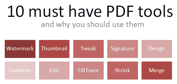 10 must have PDF tools