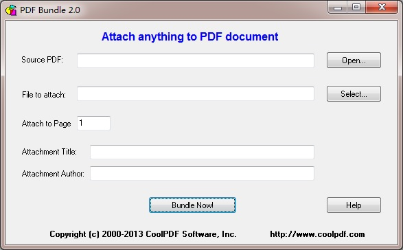 Attach document to PDF file