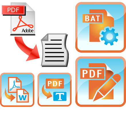 Convert PDF document into the text or word file